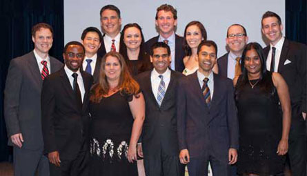 2015 graduating chiefs with Dr. Keith Delman and Dr. John Sweeney, Chiefs Dinner