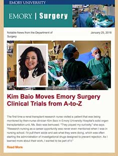 Emory Surgery Newsletter January 25, 2018