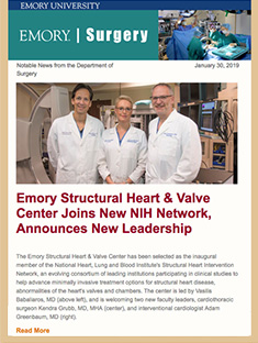 Emory Surgery Newsletter November 7, 2018