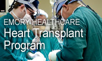 Graphic link to Emory Healthcare's Heart Transplant Program.