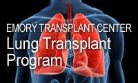 Graphic link to the lung transplant section of the Emory Transplant Center website.