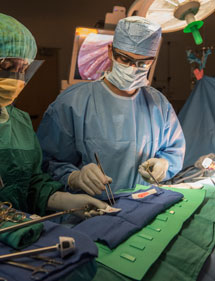 pediatric surgeon in the OR