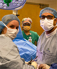Plastic surgeons in the OR.